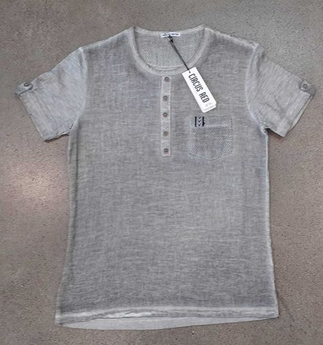 Circus Red Leinen T-Shirt grau