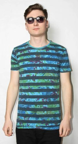 Xagon Man T-Shirt Stripes&Flowers